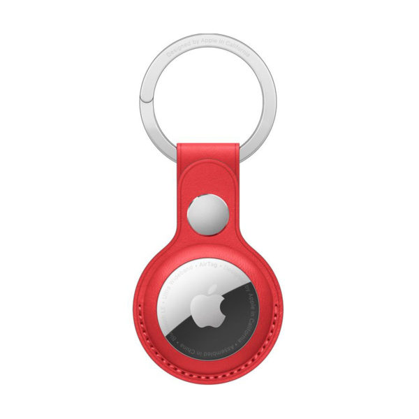 105 Apple Airtag Leather Key Ring Product Red Icare Store