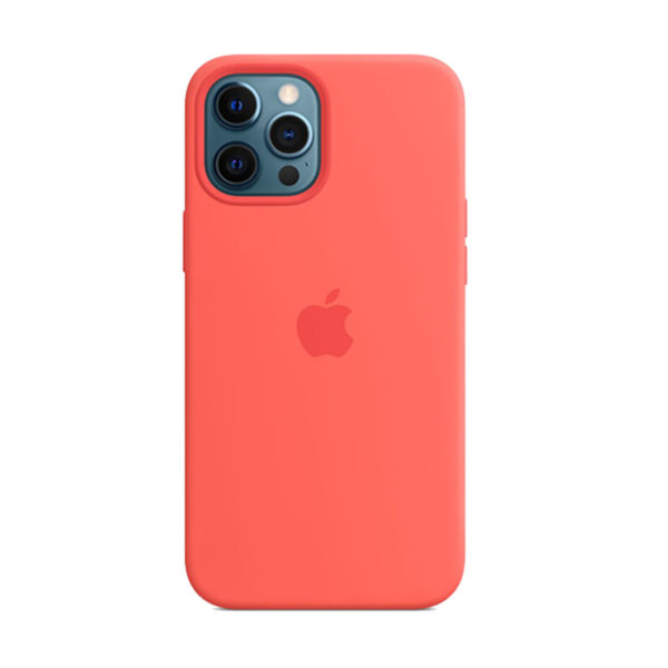 64 Apple Silicone Case Iphone 12 Pro Max Pink Citrus Icare Store